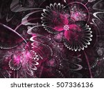 Purple Fractal Flowers  Digita...