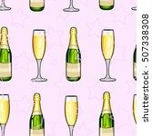 seamless pattern champagne... | Shutterstock .eps vector #507338308