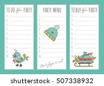 vector set of to do lists and... | Shutterstock .eps vector #507338932