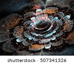 Dark Colorful Fractal Flower ...