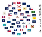 the flags of us states  collage | Shutterstock . vector #50734420