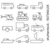 set of vector logos. types of... | Shutterstock .eps vector #507346135
