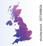 polygonal map of great britain | Shutterstock .eps vector #507348826