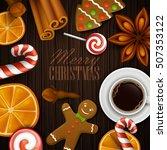 christmas background. vector... | Shutterstock .eps vector #507353122