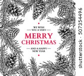 christmas holiday greeting card ... | Shutterstock .eps vector #507354496