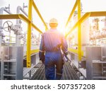 refinery oil and gas industry | Shutterstock . vector #507357208