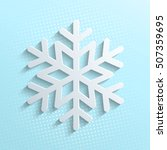 white snowflake icon isolated... | Shutterstock .eps vector #507359695