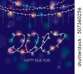 2017 new year greeting card.... | Shutterstock .eps vector #507360256