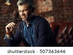 portrait of attractive man with ... | Shutterstock . vector #507363646