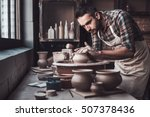 total concentration at work.... | Shutterstock . vector #507378436
