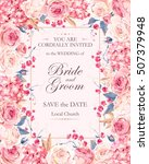 vintage wedding invitation | Shutterstock .eps vector #507379948