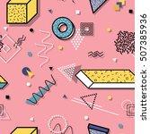 vector abstract seamless...   Shutterstock .eps vector #507385936