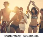beach party freedom vacation... | Shutterstock . vector #507386386