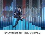 depressed businessman in... | Shutterstock . vector #507395962