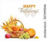 thanksgiving day background...   Shutterstock .eps vector #507399046