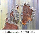 cracked and peeled metal with... | Shutterstock . vector #507405145