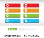 set of crumpled buttons with... | Shutterstock .eps vector #507405652