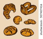 bakery elements illustration... | Shutterstock .eps vector #507407416