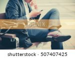 hand writing trade  with the... | Shutterstock . vector #507407425