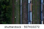 aerial view of railroad station.... | Shutterstock . vector #507410272