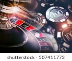 casino roulette game chips... | Shutterstock . vector #507411772