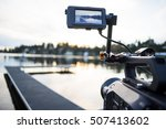 camera shooting sunset video... | Shutterstock . vector #507413602