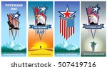 veterans day. honoring all who... | Shutterstock .eps vector #507419716