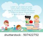 back to school  kids school ...   Shutterstock .eps vector #507422752