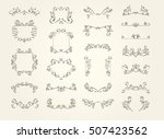 collection of vintage frame... | Shutterstock .eps vector #507423562