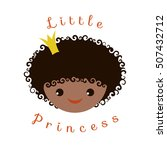 little princess portrait of... | Shutterstock .eps vector #507432712