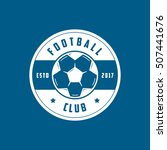 football club emblem flat icon... | Shutterstock .eps vector #507441676