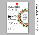 wedding invitation printable...   Shutterstock .eps vector #507452152