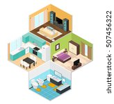 interior rooms of the house.... | Shutterstock . vector #507456322