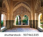 Decorated Room  Inside Nasrid...