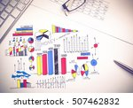 color business strategy sketch... | Shutterstock . vector #507462832