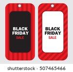 black friday discount vector... | Shutterstock .eps vector #507465466