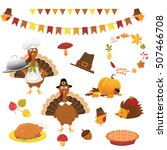 thanksgiving set | Shutterstock .eps vector #507466708