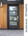 Modern Front Black Door With...