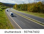 asphalt highway with oncoming...   Shutterstock . vector #507467602