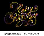 merry christmas isolated text...   Shutterstock . vector #507469975