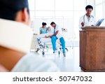 injured woman sitting on... | Shutterstock . vector #50747032