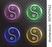 set yin yang symbols | Shutterstock .eps vector #507477412