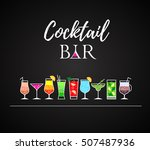 cocktail icons. cocktail menu | Shutterstock .eps vector #507487936