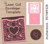 lasercut vector wedding... | Shutterstock .eps vector #507489328