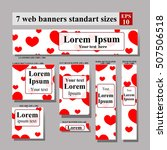 set of web banners valentine's... | Shutterstock .eps vector #507506518