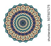 color floral mandala  vector... | Shutterstock .eps vector #507507175