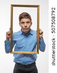 emotional boy brunette in a... | Shutterstock . vector #507508792