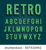 retro font with light bulbs.... | Shutterstock .eps vector #507510442