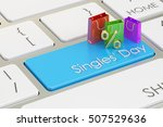 singles' day concept on the... | Shutterstock . vector #507529636
