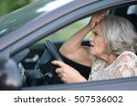 senior woman driving car | Shutterstock . vector #507536002